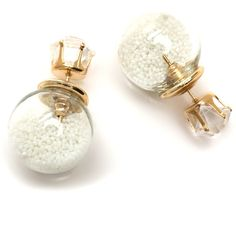 Snow Globe Backdrop Earrings ❤ liked on Polyvore featuring jewelry, earrings and earrings jewelry