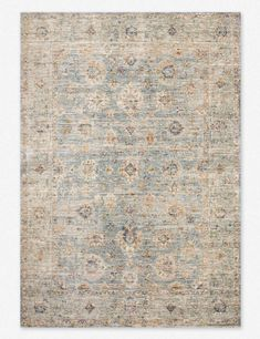 Loloi Revere Light Blue/Multi Area Rug – Incredible Rugs and Decor Large Rugs, Small Rugs, Room Rugs, Rugs In Living Room, Oriental Carpet, Oriental Rugs, Calming Colors, Carpet Styles, Grey Carpet