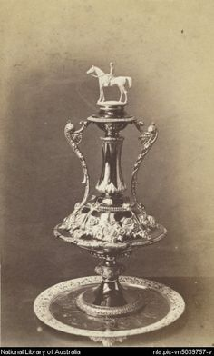 historicaustralia:  The first Melbourne Cup trophy, 1865