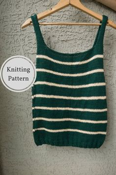 Ideas Crochet Summer Tops Easy Knitting Patterns For 2019 Crochet Summer Tops, Summer Knitting, Crochet Top, Knitting Terms, Easy Knitting Patterns, Knitted Tank Top, Knit Tops, Diy Couture, Top Pattern