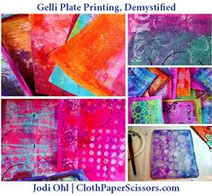 Explore Gelli Plates for Colorful Printmaking Results  | One of the featured DVDs in our Top 15 sale is Jodi Ohl's Collage Characters: Exploring Gelli Plates for Colorful Results. Jodi was kind enough to share with us an overview of printmaking with a Gelli® Plate, along with some great tips. Read on to see what Jodi has to say!  ~CherieClothPaperScissors.com