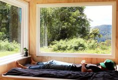 A sunny afternoon kip at the Kangaroo Valley tiny house || #unyoked #disconnect #viewfromthetop || Not long until you too can be this #relaxed at an Unyoked tiny house watch this space for website and booking details