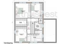 Realisatie | Thuis Best woningbouw |BEN woning Modern type B- verdieping. Eigen woning bouwen? www.thuisbest.be