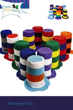 """You can give these away as party favors or prizes. Any way you choose to use them they are sure to be a hit. Wear them at a party, in a parade or """"just because""""! 10th Birthday Parties, Art Birthday, Birthday Ideas, Wholesale Toys, Novelty Hats, Fun Express, Crazy Hats, Costume Hats, Costume Ideas"""