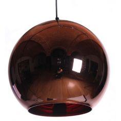 Szklana lampa wisząca Brass 20