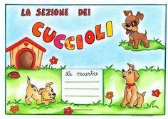 maestra Nella: Per la porta della sezione: cuccioli, pesciolini, ...