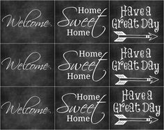 Free Chalkboard Printables for Birthday and Welcome - Refresh Restyle Chalkboard Print, Chalkboard Lettering, Chalkboard Signs, Chalkboard Ideas, Chalkboard Drawings, Welcome Home Cards, Printable Art, Free Printables, Freebies