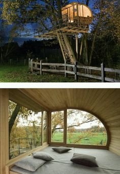 Cool Tree House Ideas to Take Your Project to the Next Level. … The goal of an awe-inspiring tree house is to make it unforgettable and a place where… Beautiful Tree Houses, Cool Tree Houses, Future House, My House, Architecture Design, Gazebo, Pergola, In The Tree, Play Houses