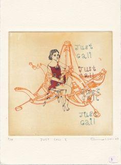 Gravures & Estampes | Atsuko Ishii | Just call 2 | Tirage d'art en série limitée sur L'oeil ouvert Artwork, Etchings, Prints, Open Set, Work Of Art