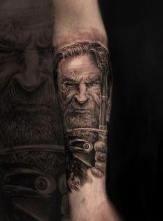 Raven Tattoo, Tattoo Photos, Portrait, Tattoos, Style, Swag, Tatuajes, Headshot Photography, Tattoo