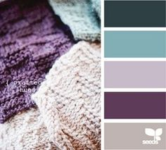 loves these purples and greens