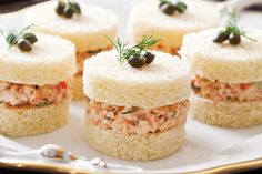 Crawfish Salad Tea Sandwiches These Dilled Crawfish Salad Tea Sandwiches have the flair and flavor of the Louisiana shore.These Dilled Crawfish Salad Tea Sandwiches have the flair and flavor of the Louisiana shore. Mini Sandwiches, Finger Sandwiches, Breakfast Sandwiches, Afternoon Tea Recipes, Afternoon Tea Parties, Tea Time Magazine, Catering Food, Catering Display, Catering Ideas