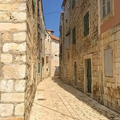 Stepping back in time along the beautiful streets of Stari Grad on the island of Hvar, Croatia!