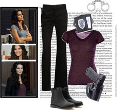 """""""Angie Harmon (Jane Rizzoli)"""" by jen8f9 ❤ liked on Polyvore"""