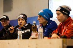 Simon Ammann, Kilian Peier, Gabriel Karlen   FIS Skispringen Weltcup   Engelberg / Schweiz   Fotograf Kassel http://blog.ks-fotografie.net/pressefotografie/weltcup-skispringen-engelberg-schweiz-2014-pressebildarchiv/