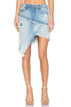 Elseya Asymmetrical jean skirt
