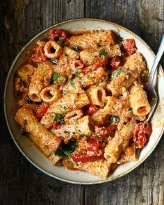 Pot Pasta, Veggie Pasta, Pasta Dishes, Pasta Recipes, Dinner Recipes, Cooking Recipes, Vegetarian Recipes, Healthy Recipes, Vegetarian Dinners