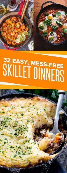 Try a diff recipe each week in fall/winter - 32 Fall Skillet Dinners For People Who Hate Doing Dishes