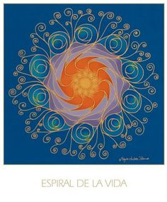 Life Spiral Mandala by Mayra Andrea Kanne