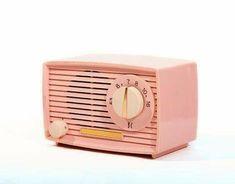 Retro Pink AM Radio. Pink retro am radio on white background , Pink Radio, Top 40, Music Love, Fine Art America, Artwork, Retro Background, Happy Things, Image, Radios
