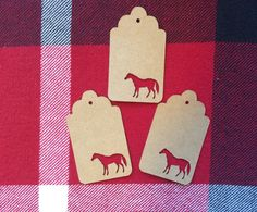Die Cut Horse Tag by NatureCuts on Etsy