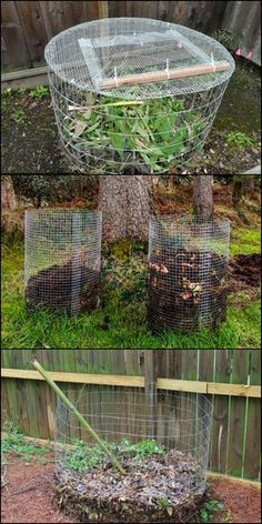 Your Plants Healthy by Making Your Own Compost in This DIY Wire Mesh Compost Bin!Keep Your Plants Healthy by Making Your Own Compost in This DIY Wire Mesh Compost Bin! Backyard Vegetable Gardens, Garden Compost, Garden Pests, Diy Compost Bin, How To Compost, Organic Gardening, Gardening Tips, Urban Gardening, Compost Container