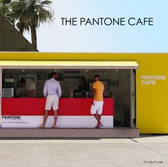 A Pantone Cafe Pops Up In Monaco. See the color-coded food and drink amongst…