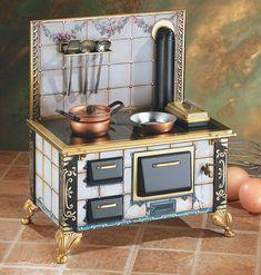 Oma's Old World Tin Toy Kitchen Stove