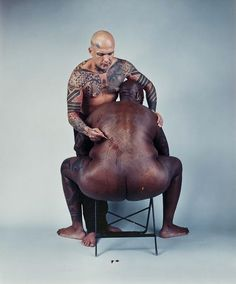 Four Scenes from a Harsh Life - Ron Athey and Divinity Fudge(photograph by Catherine Opie)