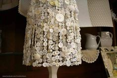 Button Lamp shade/button crafting
