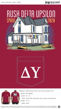 Delta Tau Delta Recruitment Shirt | Fraternity Recruitment | Greek Recruitment #deltataudelta #dtd #Recruitment #house #design