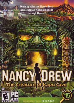 Cover art for Nancy Drew: The Creature of Kapu Cave (Windows) database containing game description & game shots, credits, groups, press, forums, re...