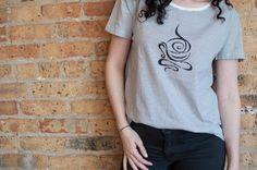 Abstract Coffee Mug T-Shirt High-Low T-Shirt Woman by Aquani
