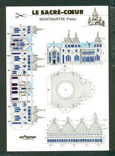 3-D Cut Out Postcard - Le Sacre-Coeur Montmartre Paris