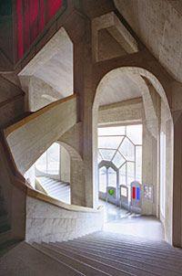 Rundgang Goetheanum Bau Westtreppenhaus