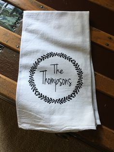 Personalized embroidered cotton towels