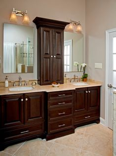 Refined Elegance Master Bath Remodel: North Wales, PA - traditional - bathroom - philadelphia - HomeTech Renovations, Inc. Bad Inspiration, Bathroom Inspiration, Bathroom Layout, Bathroom Interior, Bathroom Ideas, Bathroom Bin, Basement Bathroom, Bathroom Organization, Bathroom Baskets