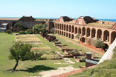 Dry Tortugas Fort Jefferson,Key West, Florida (The former afforded a safe anchorage at all seasons, and was large enough to let a large number of ships ride at anchor. Of more importance, the inner harbor combined a sufficient depth of water for ships-of-the-line, with a narrow entrance of not more than 120 yards.)