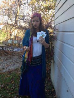Shop your closet for this last minute Halloween costume idea. Last Minute Halloween Costumes, Fortune Teller, Costume Shop, Cuddling, Cosplay, Guide, Shopping, Bullet Journal, Selfie