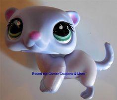 Littlest Pet Shop LPS Purple Ferret #482 with green eyes by Hasbro