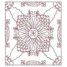 Quilt Blocks Redwork - Redwork - Designs by Technique | Machine Embroidery Designs