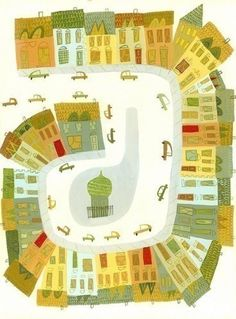 Cars, streets, houses...
