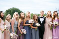 Colorful Bridesmaids dresses / Summer Wedding / Bliss Weddings & Events