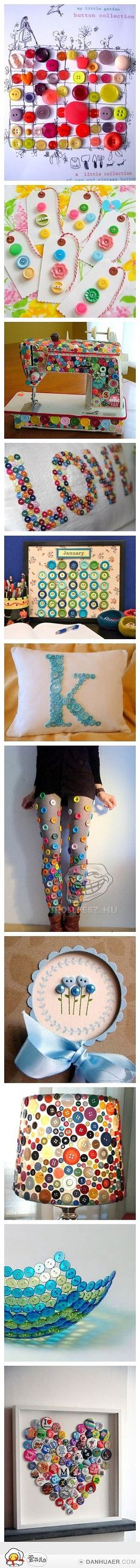 things to do with buttons! via @Emily Schoenfeld Pitts