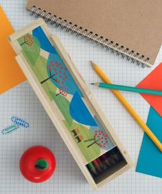 Transfer an image onto a wooden pencil box for a customized school accessory!  (via @Apartment Therapy www.apartmenttherapy.com)