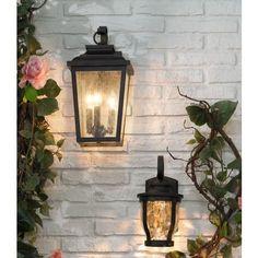 Minka Irvington Manor 16 High Bronze Outdoor Wall Light in scene Led Outdoor Wall Lights, Outdoor Light Fixtures, Outdoor Wall Lantern, Outdoor Walls, Outside Lights On House, Exterior Light Fixtures, Outdoor Spaces, Garage Lighting, Porch Lighting