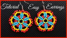Easy lace seed bead earrings