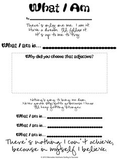 What I Am- adjective activity-UK Eduacation Assignment Site @ http://www.smartyoungthings.co.uk