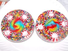 Resin candy coasters -- made with coaster mold 893