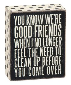 Another great find on #zulily! Wood 'Good Friends' Box Sign #zulilyfinds